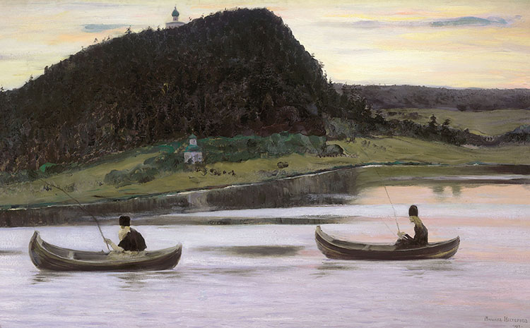"""Painting titled """"Silence"""" by Mikhail Nesterov"""