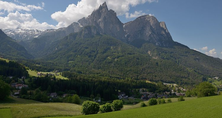 Seis am Schlern, the mountain village in the Italian Alps where the Cheremeteff family settled for a short time after the Civil War.