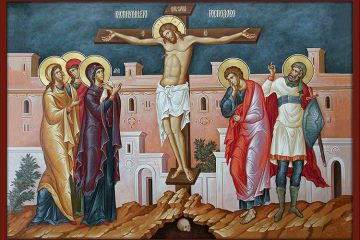 Macedonian style icon of the Crucifixion of our Lord