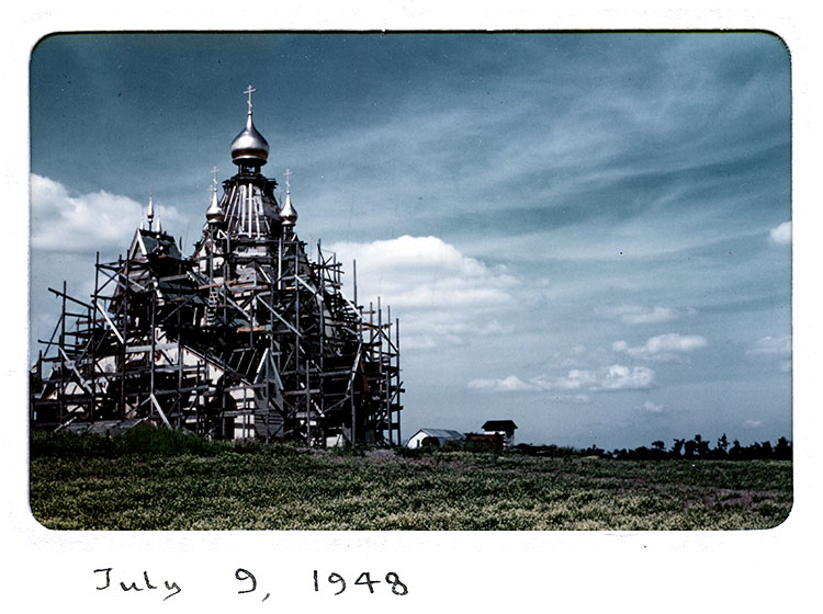 Cathedral at Holy Trinity Monastery under construction, 1948