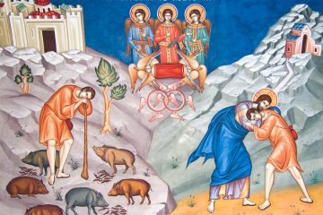 Greek Orthodox icon of the parable of the prodigal son