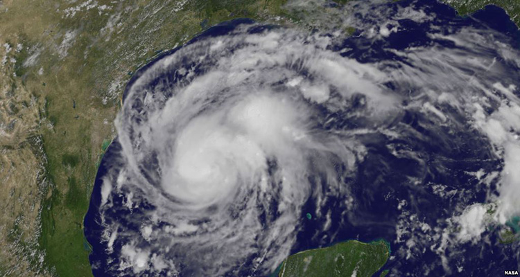 NOAA Satelite image of Hurricane Harvey
