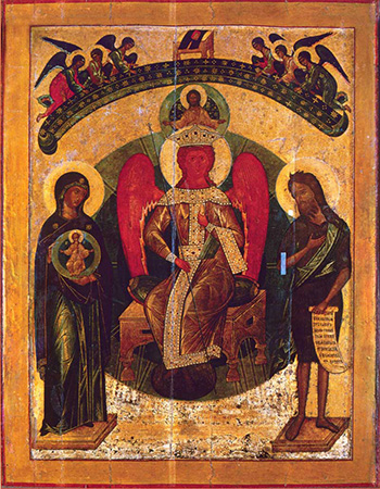 Icon of the Holy Wisdom (16th c., Sophia cathedral, Novgorod)