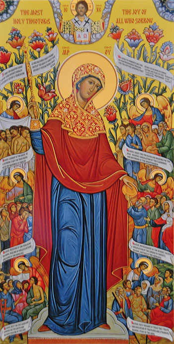 Icon of the Mother of God, Joy of All Who Sorrow