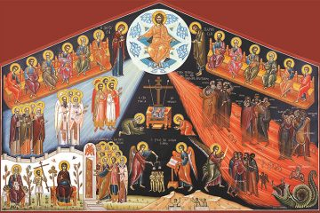 Greek Orthodox icon of the Last Judgement