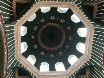 Detail of dome in former Russian embassy church in London.