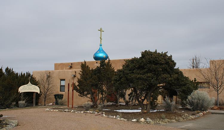 Photo of the parish of St Juliana of Lazarevo in Santa Fe, New Mexico