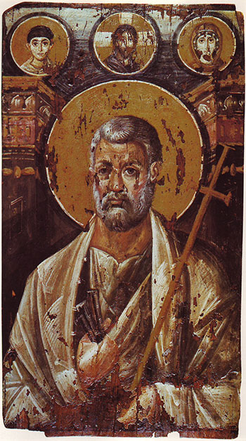 Icon of Saint Peter from first half of the 7th century, Mt Sinai.