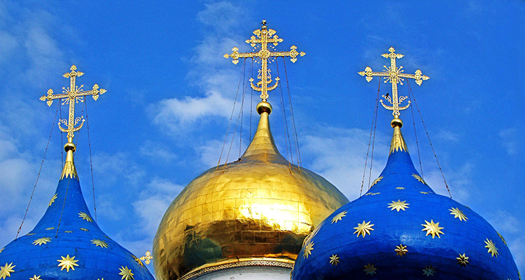Domes of Russian Orthodox church