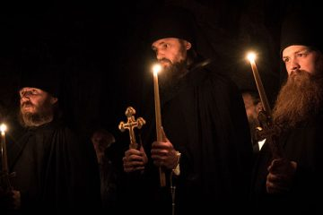 Three new monks tonsured at Holy Trinity Monastery, Jordanville.